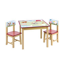 guidecraft wood hand painted farm friends table chairs set g baby