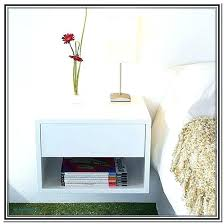 white floating nightstand floating bedside table nightstand attached to wall unique impressive wall mounted bedside table