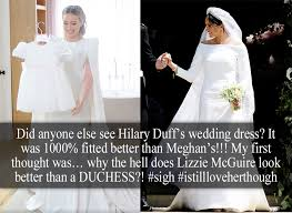 her stunning ivory dress was created by jenny packham. Royal Confessions Did Anyone Else See Hilary Duff S Wedding Dress