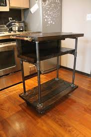 diy pallet iron pipe. Recycled Pallet And Iron Pipe Kitchen Cart Diy
