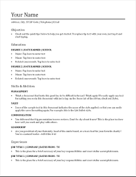 Chronological Format Resume Stunning Resume Chronological