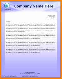 Letterhead Sample In Word Free Resume Letterhead Sample Resume Letterhead 24 Best Custom Paper 17