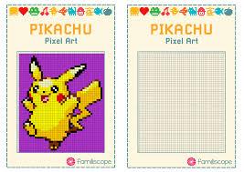 Des feuilles à imprimer au format a4 (gratuit) et divers supports ainsi que des générateurs de carreaux ou lignes. Pixel Art Pikachu