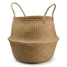 DOKOT Natural <b>Seagrass Storage Basket</b> Woven Plant Basket Pot ...