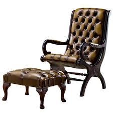 Astoria Grand Colunga Chesterfield <b>Slipper Chair</b> and <b>Footstool</b> ...