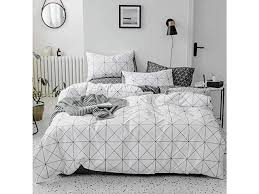 teen boys geometric plaid bedding sets