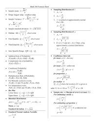 Physics 2 Formula Chart Mathematics Standard 2 Formula Sheet Ten Reasons Why