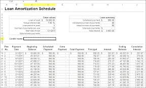 Amortization Loan Calculator Loan Amortization Schedule With Extra Payments Excel Formula