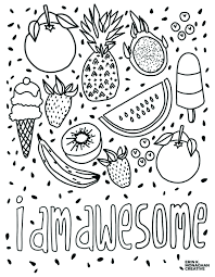 Check out our kids coloring sheets selection for the very best in unique or custom, handmade pieces from our coloring books shops. I Am Awesome Coloring Sheet Growth Mindset For Kids Cool Coloring Pages Coloring Pages For Kids Coloring Books