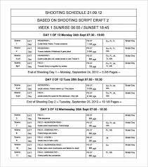 Shooting Schedule Sample 12 Shooting Schedule Templates Word Excel Pdf Word Excel