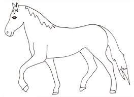 Cavallo Al Passo Da Colorare Cose Per Crescere
