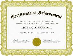 Achieve Awards Printable Certificates Free Printable