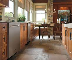 rustic kitchen with cherry wood cabinets