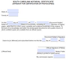 affidavit for certification of