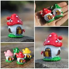 freedhl mini mushroom house figurines diy succulents terrarium cute tiny cartoon micro landscape flower pots decorations garden decor e434l