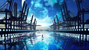 Anime, Scenery, Landscape, Moon, 4k ...