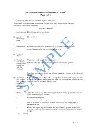 Loan Contract Sample Loan Agreement Borrower To Lender Sample LawPath 7