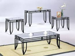 glass top coffee table with metal base end tables black metal base modern you could sit