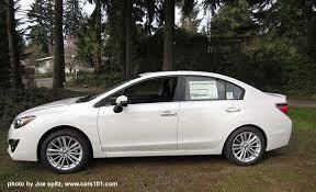 subaru impreza 2015 sedan white. 2015 subaru impreza limited crystal white shown sedan cars101com