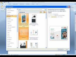 How To Do A Brochure On Microsoft Word 2007 How To Create A Brochure With Microsoft Word 2007 Youtube