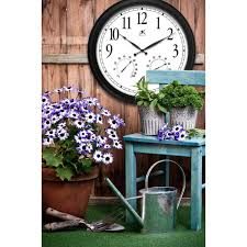 infinity instruments definitive 24 in w x 24 in l round outdoor wall clock