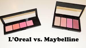 maybelline master blush kit l oreal infallible paints blush palette review