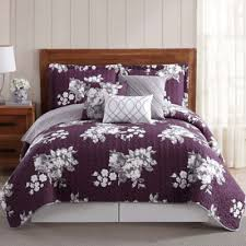 Buy Purple Quilt Bedding from Bed Bath & Beyond & Peony Garden Floral 6-Piece Queen Quilt Set Adamdwight.com