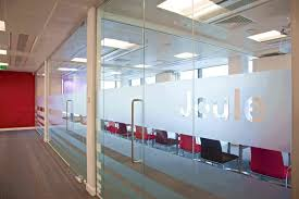 office dividers glass. sand blasting itching glass office dividers
