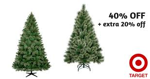Right now, Target has artificial Christmas trees on sale for 40% off plus an additional 20% when you choose free in-store pickup at checkout! Target: Off Trees + Extra :: Southern Savers