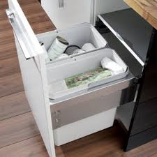 oko-liner kitchen waste pull out bins 600mm cabinet