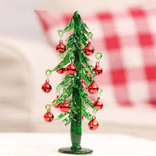 2015 new 167cm glass mini bell christmas tree office and house desk decoration artificial christmas tree office desk