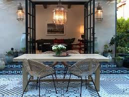 mediterranean style lighting. Large Mediterranean Style Outdoor Hanging Pendant Lights Over A Table And Rattan Chairs Lighting