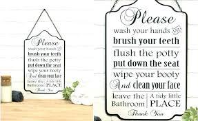 bathroom rules sign bathroom rules sign bathroom rules sign sold out metal bathroom rules sign vintage