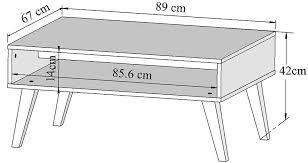 Table Basse Industriel En Chêne Massif Et Métal. Monaco Table Basse ...