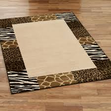 safari collage rectangle rug beige brown
