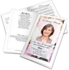 funeral pamphlet make a funeral program create funeral programs