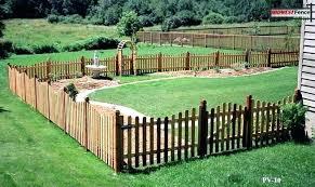 wood picket fence gate. Short Fence Ideas Wood Picket Around Flower Garden Wooden Gate