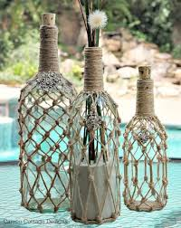 wine bottle diy crafts wine bottle rope projects for lights decoration gift