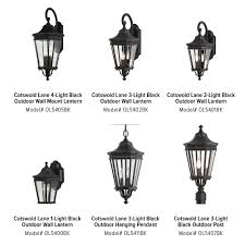 Cotswold Outdoor Lighting Feiss Cotswold Lane 3 Light Black Outdoor 23 75 In Wall Lantern Sconce