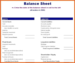 simple balance sheet example balance sheet template excel excel accounting simple balance sheet