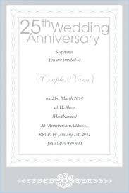 25 wedding anniversary invitation wording wedding anniversary invitation cards sles word template invitation anniversary 25th wedding