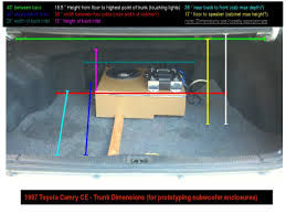 DIY: 1997 Camry Trunk Dimensions (for subwoofers) - Toyota Nation ...