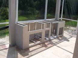 Steel Frame Outdoor Kitchen Build Outdoor Kitchen Frame Casanovainterior