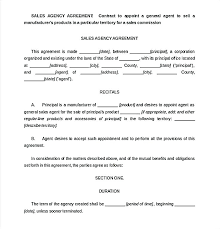 Sales Agent Contracts Beauteous Sales Rep Contract Template Commission Agreement Free Explore