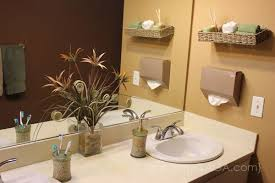 diy bathroom wall decor. Wonderful Wall Contemporary Decoration Decorating Ideas For Bathroom Walls DIY  Floating Basket And Kleenex Hand Towels Intended Diy Wall Decor