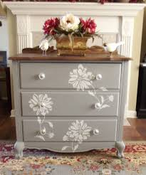 painting furniture ideas color. Flower Stencil With Homemade Chalk Paint Furniture Pinterest Over White Chairs Ideas Color For Sale Near Painting D
