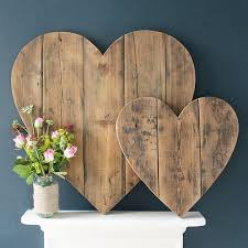 wood decor cool large wooden heart wall decoration