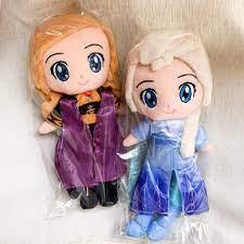 DISNEY Búp bê nhồi bông hình công chúa Elsa và Anna trong Frozen 2
