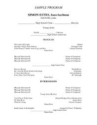 sample concert program 7 concert program templates pdf free premium templates