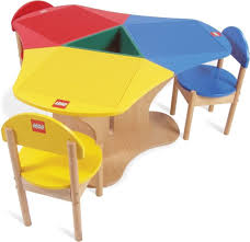 wooden lego table and 3 chairs 120 london